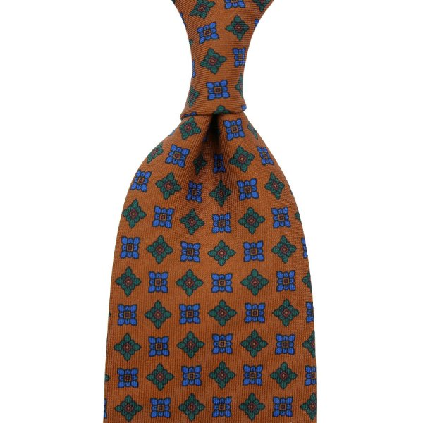 Ancient Madder Silk Tie - Terracotta I - Hand-Rolled
