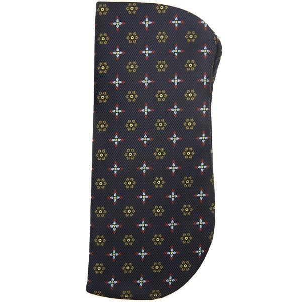 50oz Floral Printed Silk Glasses Case - Navy