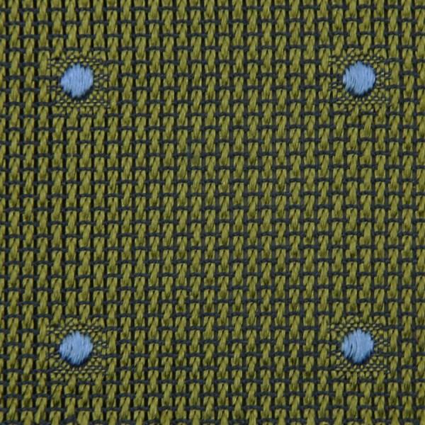 Dotted Grenadine / Garza Fina Bespoke Tie - Olive / Blue