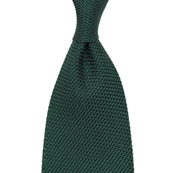 Grenadine / Garza Piccola Tie - Forest Green - Handrolled