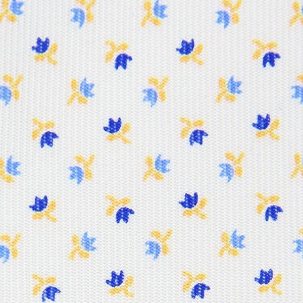 Floral Printed Bespoke Silk Tie - White