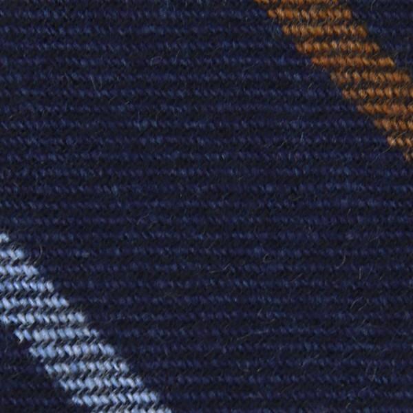 Striped Cashmere Bespoke Tie - Navy