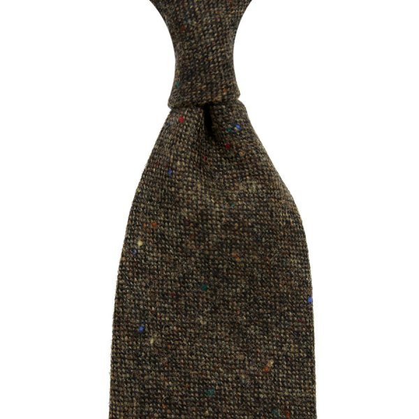 W. Bill Donegal Wool Tie - Brown - Hand-Rolled