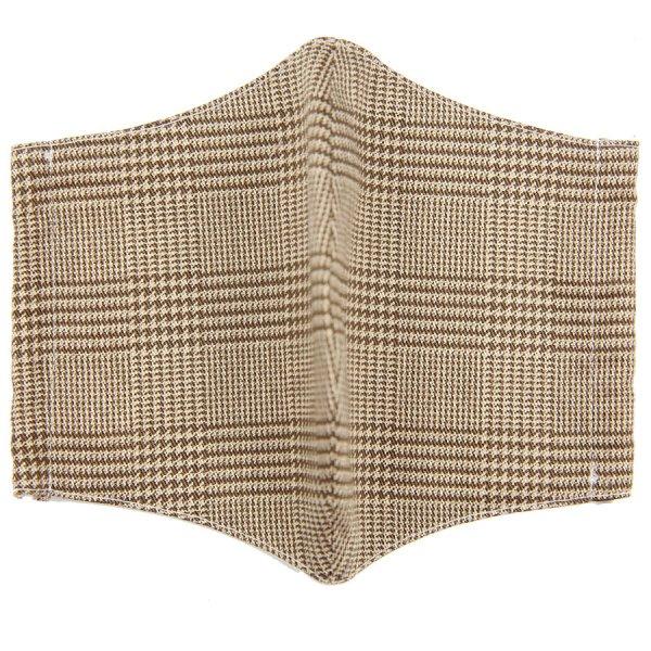 Glencheck Washable Cotton Mask - Beige
