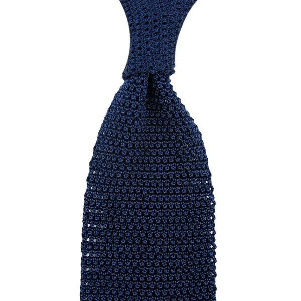 Silk Knit Tie - Navy