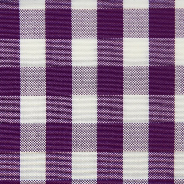 Poplin Made-To-Order Shirt - White / Purple - Gingham Big