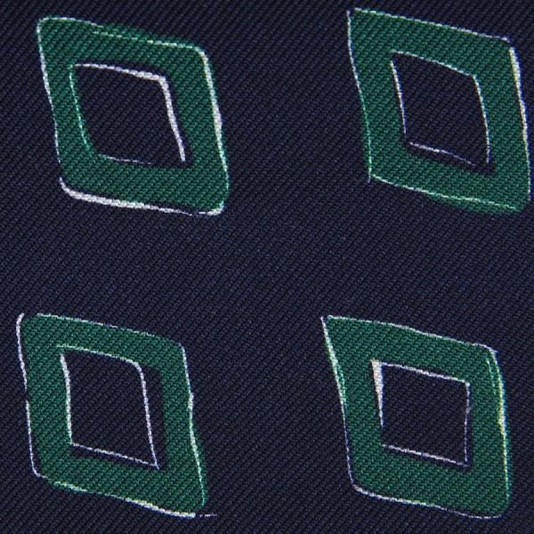 Vintage Printed Silk Bespoke Tie - Midnight