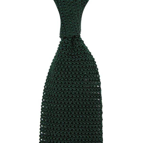 Silk Knit Tie - Forest