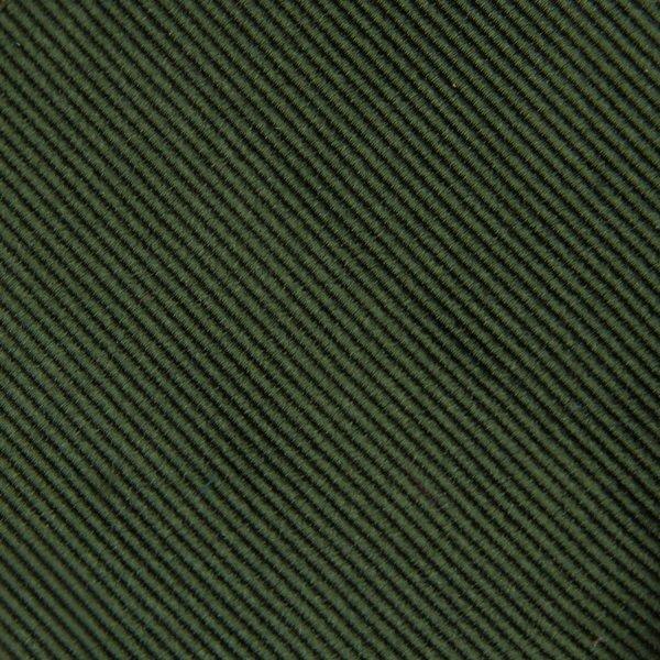 Plain Repp Bespoke Silk Tie - Forest