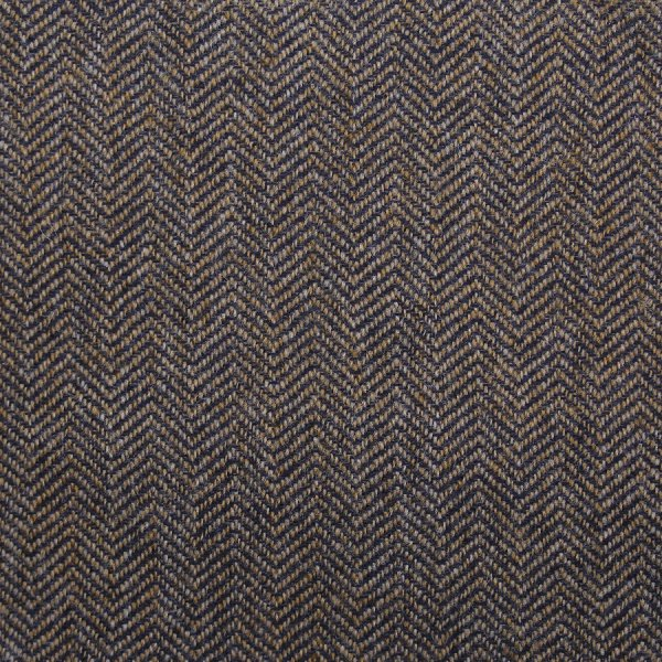 Cashmere Bespoke Tie - Brown - Herringbone