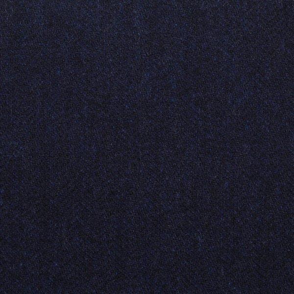 Cashmere Bespoke Tie - Midnight - Herringbone