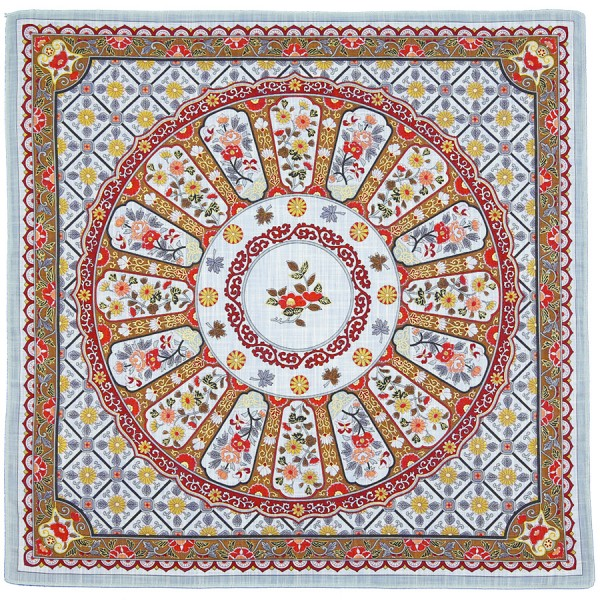 Floral Motif Cotton Handkerchief - Multicolored III