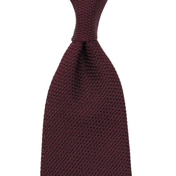 Grenadine / Garza Piccola Tie - Burgundy - Handrolled