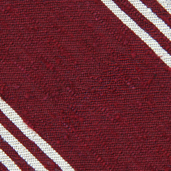 Triple Stripe Shantung Grenadine Tie - Cherry