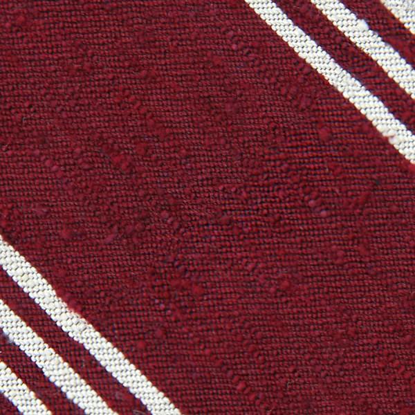 Triple Stripe Shantung Bespoke Tie - Cherry