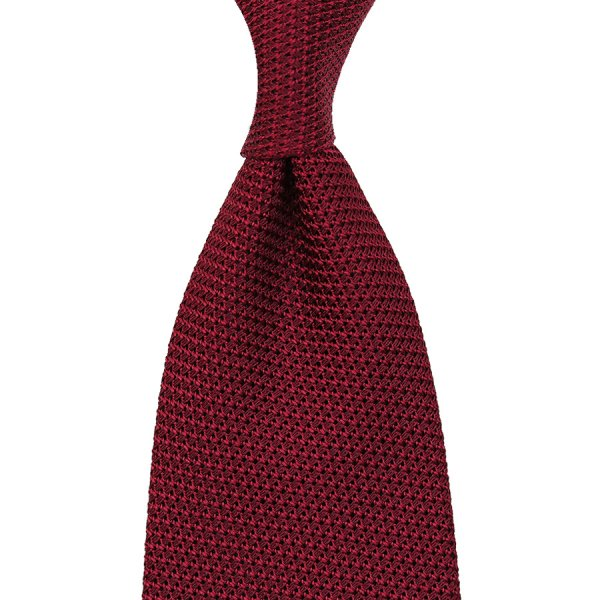 Grenadine / Garza Piccola Tie - Cherry - Handrolled