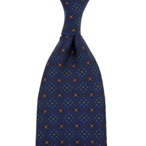Ancient Madder Silk Tie - Navy VIII - Hand-Rolled