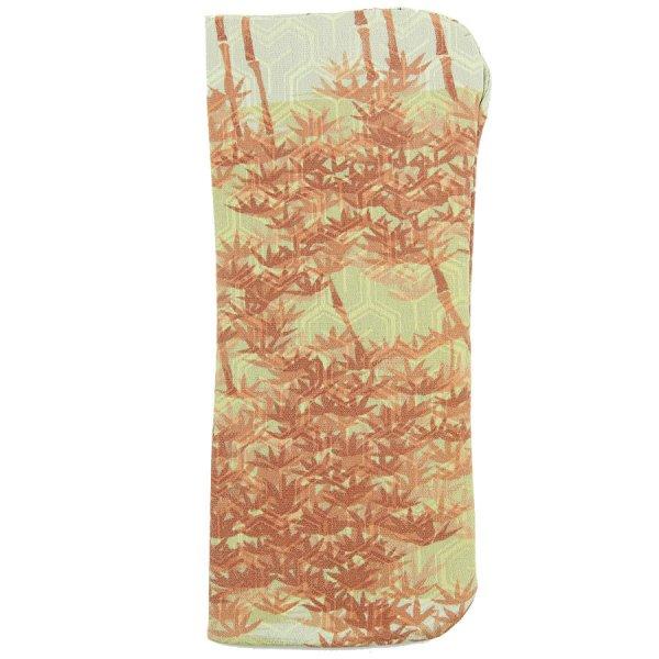 Vintage Kimono Silk Glasses Case - Rust / Beige