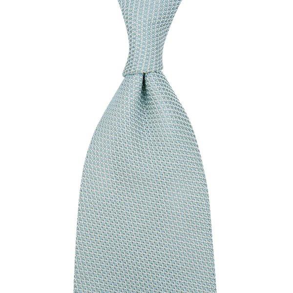 Grenadine / Garza Piccola Silk Tie - Pale Blue - Hand-Rolled