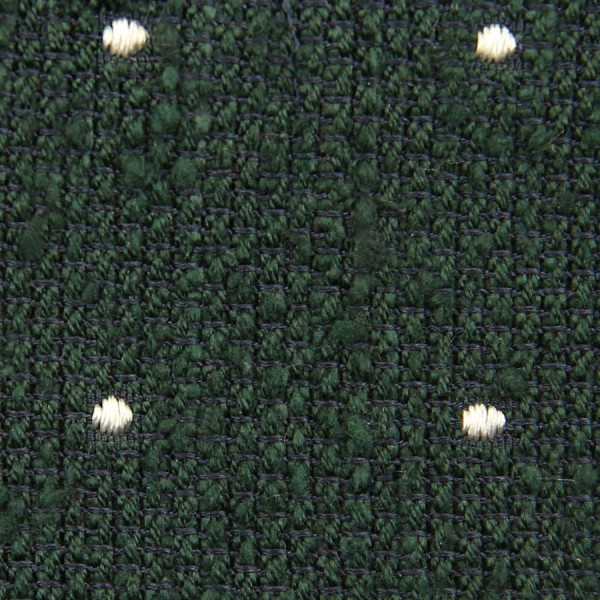 Dotted Shantung Grenadine Bespoke Tie - Forest Green / White