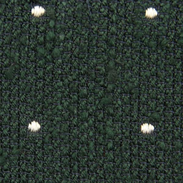 Dotted Shantung Grenadine Bespoke Tie - Forest Green / White