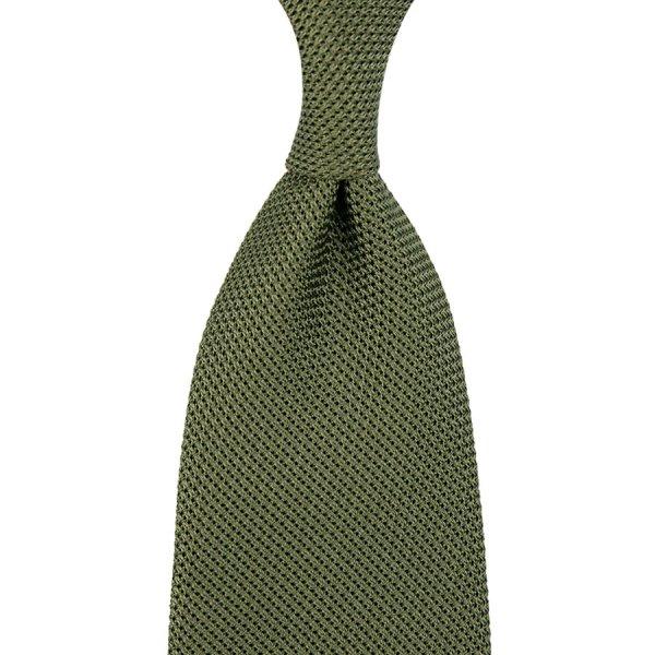 Grenadine / Garza Piccola Tie - Olive - Hand-Rolled