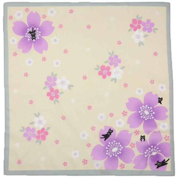 Japanese Motif Cotton Handkerchief - Yellow