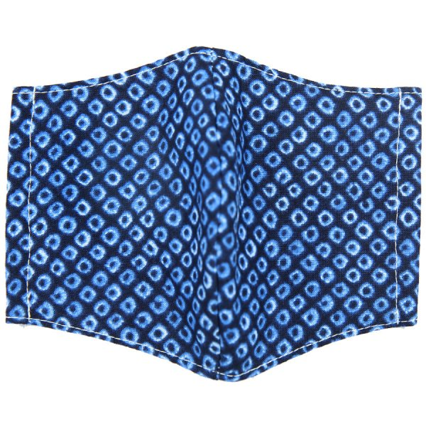 Kimono Motif Washable Cotton Mask - Blue