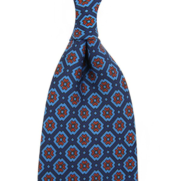 Ancient Madder Silk Tie - Navy II - Handrolled