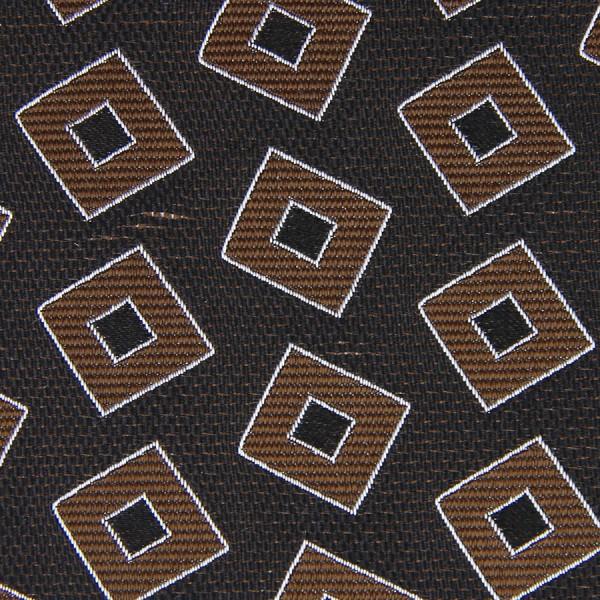 Vintage Geometrical Jacquard Bespoke Tie - Brown