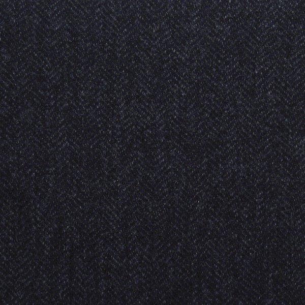 Cashmere Bespoke Tie - Charcoal - Herringbone