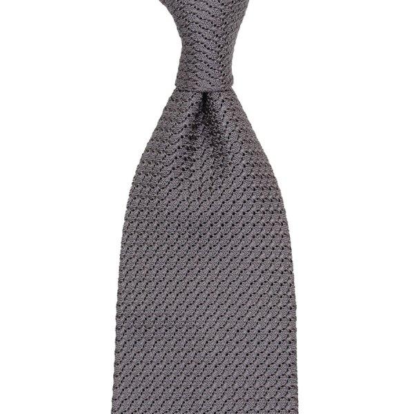 Grenadine / Garza Grossa Tie - Elephant - Hand-Rolled