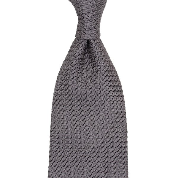 Grenadine / Garza Grossa Tie - Elephant - Handrolled