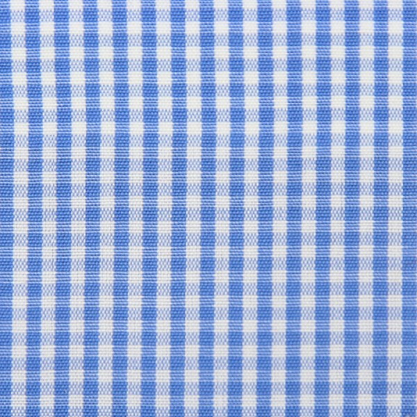Poplin Made-To-Order Shirt - White / Sky Blue - Gingham Small