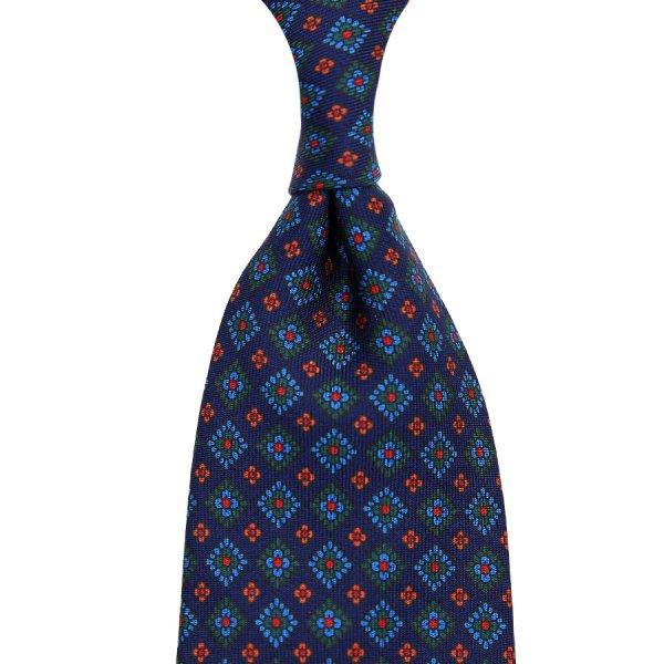 Ancient Madder Silk Tie - Navy XIII
