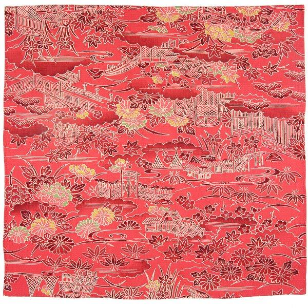 Vintage Kimono Silk Pocket Square - Pink II