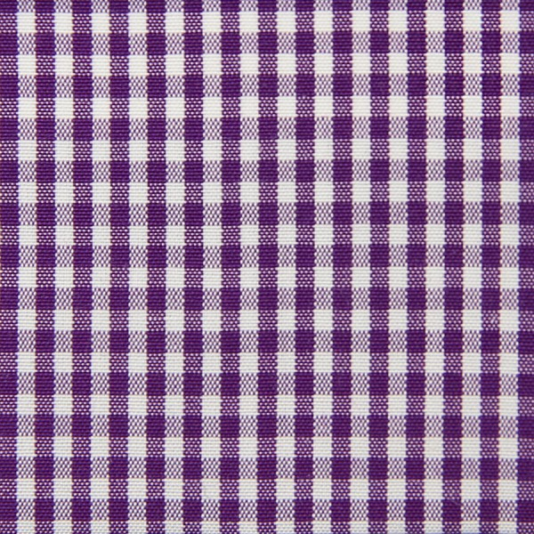 Poplin Made-To-Order Shirt - White / Purple - Gingham Small