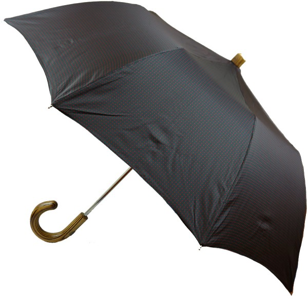 Shibumi Travel Umbrella - Charcoal / Red Dots - Hickory