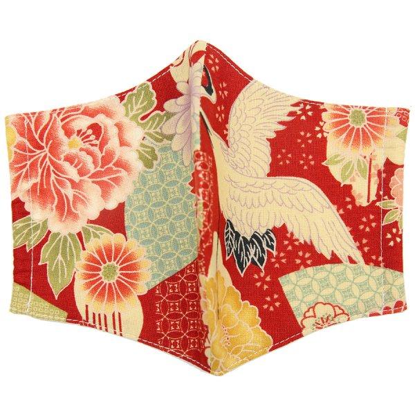 Kimono Motif Washable Cotton Mask - Multicolored V