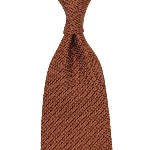 Grenadine / Garza Piccola Tie - Copper - Handrolled