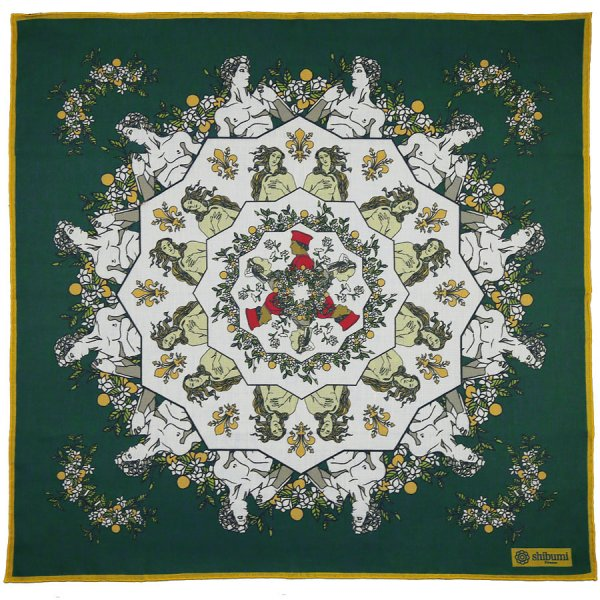 Davide Cotton Blend Neckerchief - Forest - 60x60cm