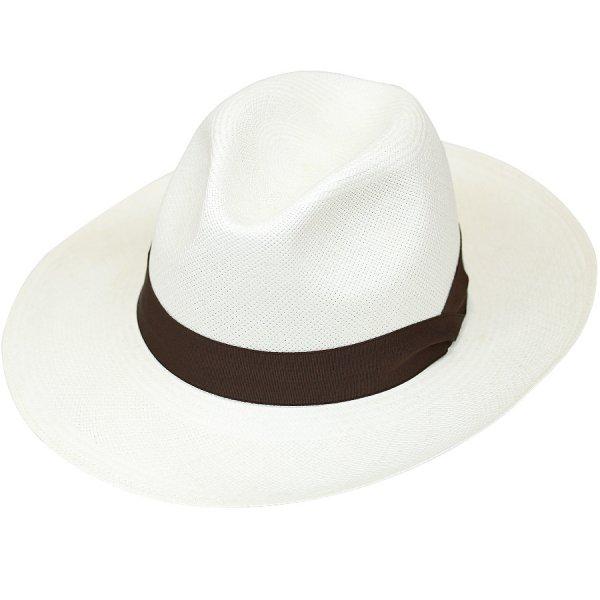 Panama Hat - Ivory / Brown Ribbon