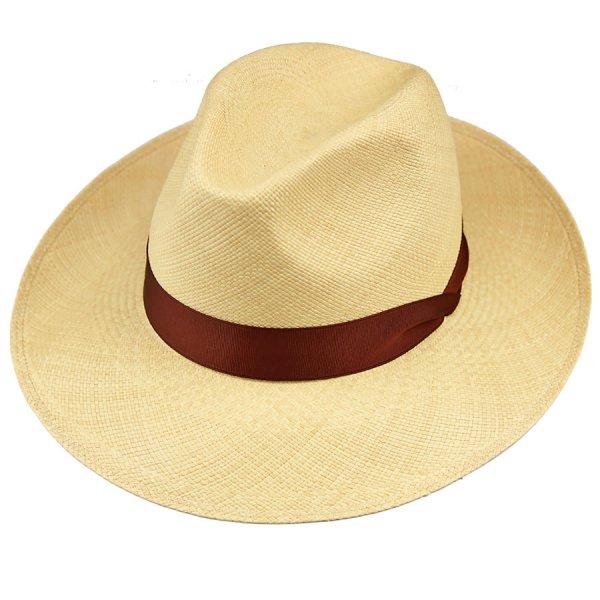 Panama Hat - Caramel / Copper Ribbon