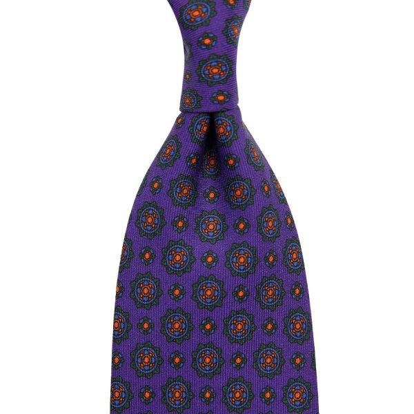 Ancient Madder Silk Tie - Purple I - Hand-Rolled