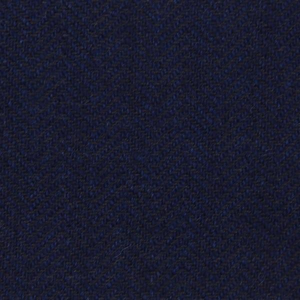 Herringbone Cashmere Bespoke Tie - Midnight