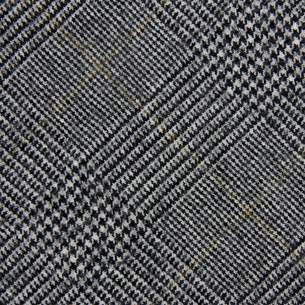 Vintage Cerruti 1881 Glencheck Bespoke Wool Tie - Grey