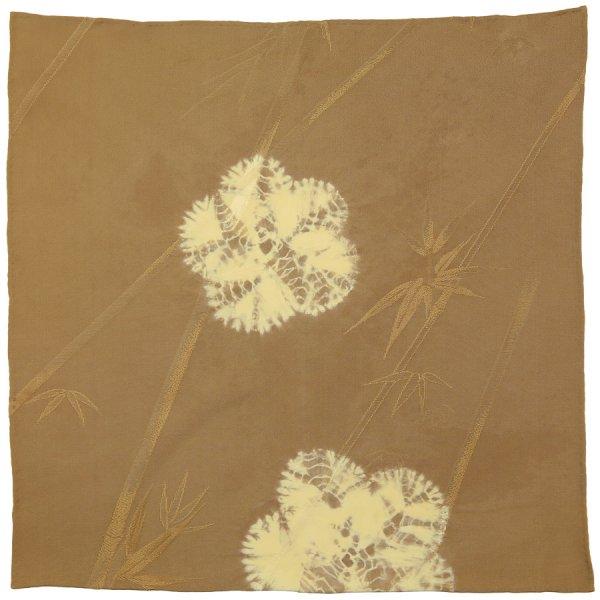 Vintage Kimono Silk Pocket Square - Oatmeal - Handrolled