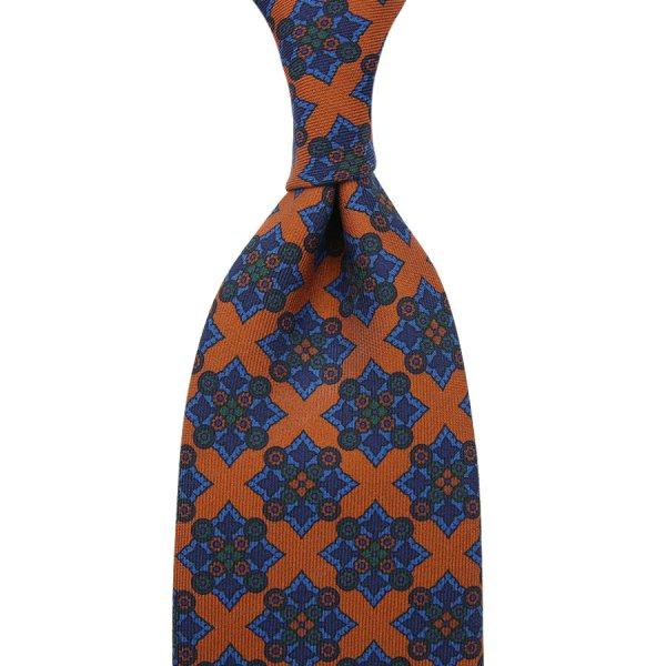 Ancient Madder Silk Tie - Terracotta II - Hand-Rolled