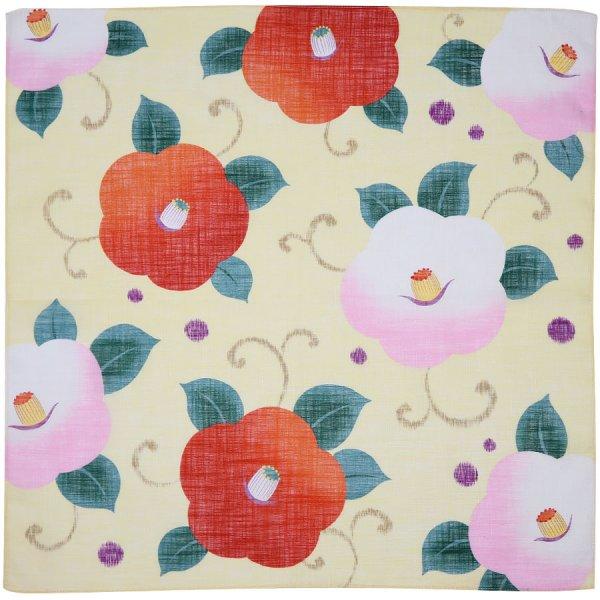 Floral Motif Cotton Handkerchief - Cream I