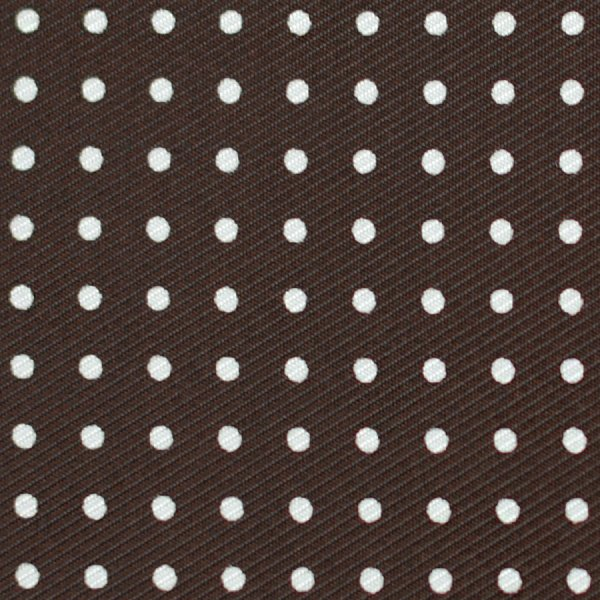 50oz Dotted Printed Silk Bespoke Tie - Brown